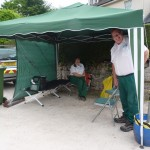 Our First Aid tent and cheerful first aiders 2017